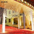 JULELYS 8M x 5m 1280 ampoules rideau LED décoratives guirlande lumières de noël en plein air pour mariage vacances fête maison jardin - 4