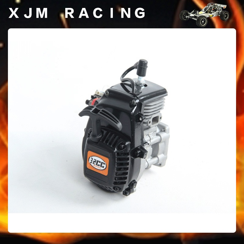 1/5 rc car 4 bolt 32cc Chrome Engine (Walbro 668 carburetor and NGK sparkplug) set fit hpi rovan km baja 5b/5t/5sc/ss aluminum 4 hole 29cc engine walbro 668 with ngk spark plug for 1 5 rovan baja 5b 5t