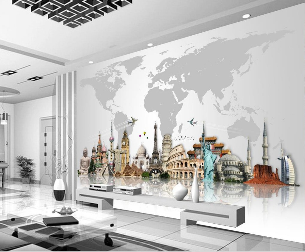 Customized Wallpaper For Walls World Famous Architecture