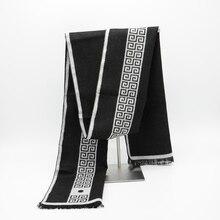 2019 Men Scarf luxury brand designer Men Classic Cashmere Scarves Winter Warm Soft Tassel fashion Women