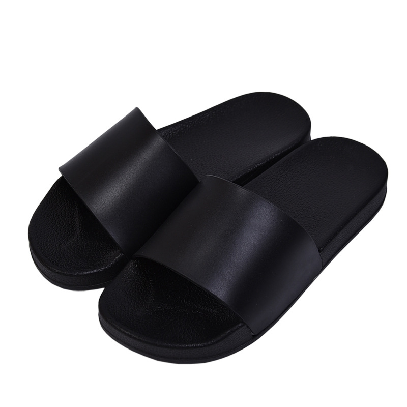 2018 indoor and outdoor slippers bathroom anti-slip unisex summer beach slippers comfortable flat shoes black and white slippers