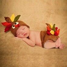Kids Cartoon Photo Photography Prop Baby Boys Girls Turkey Crochet Knit  Costume Hat + Pants Baby Photo Props 7553a538da8d