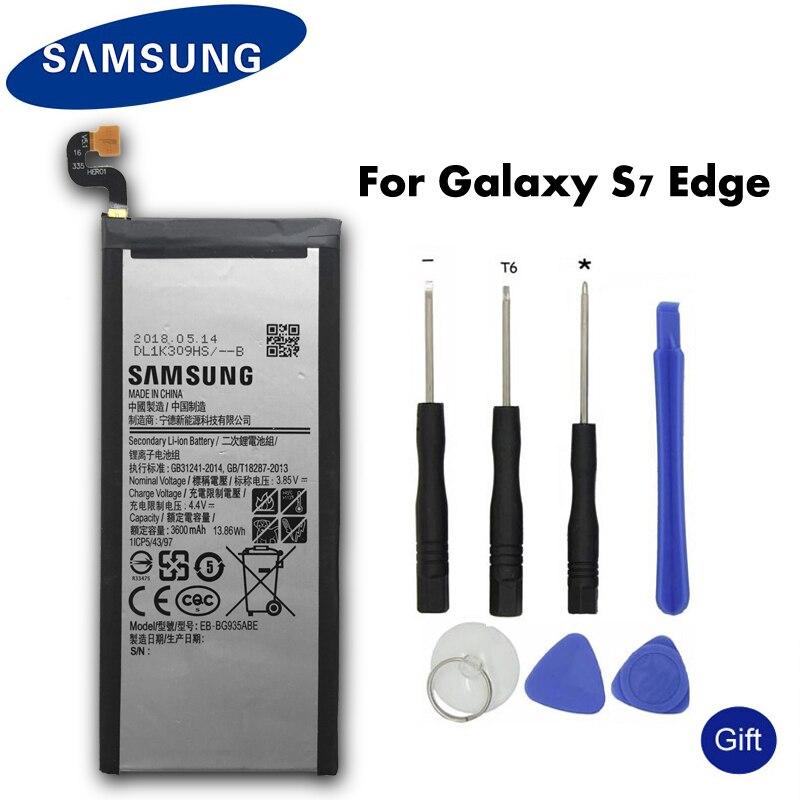 Original Samsung Bateria Do Telefone de Reposição EB-BG935ABE Para Samsung GALAXY S7 Borda G9350 G935FD SM-G935F Autêntica Bateria 3600 mah