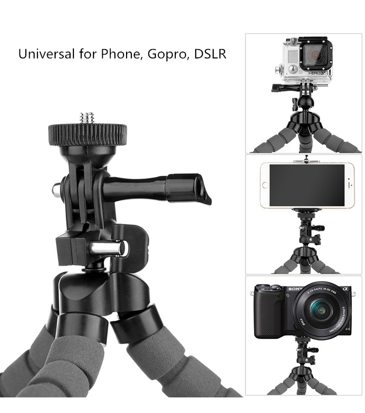 gopro camera Octopus Spider Flexible Desktop Tripod (1)