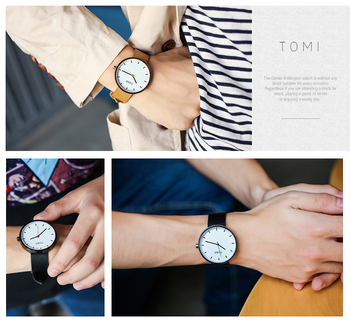 New ultra thin watch for male female 4