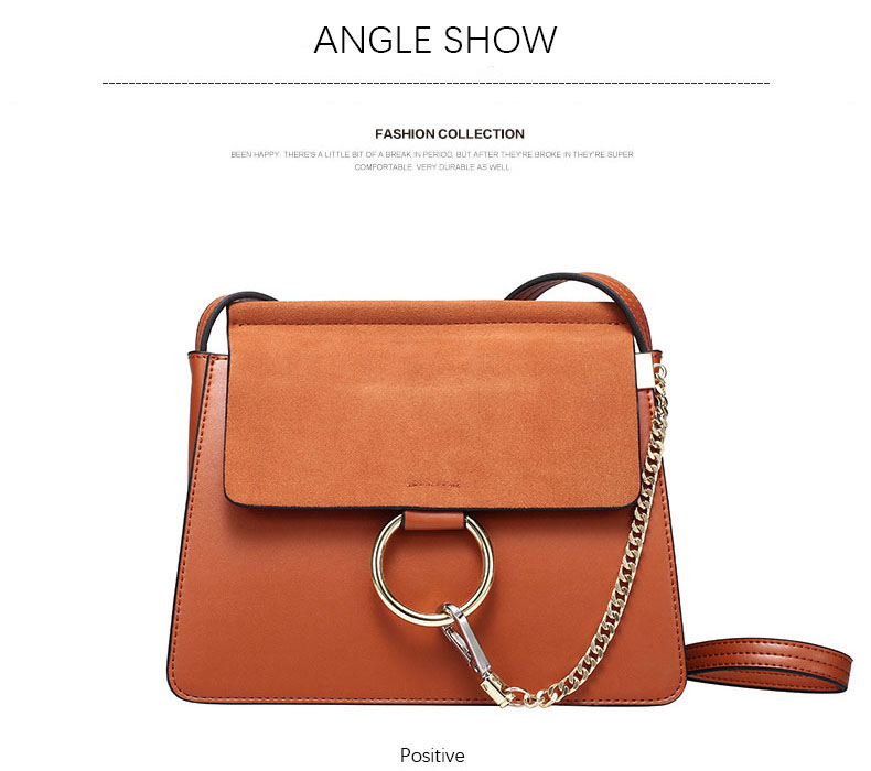 100% Genuine Leather Women Shoulder Bags Famous Brand Metal Ring Chains Women Crossbody Bags Retro Natural Leather Lady Handbag (16)