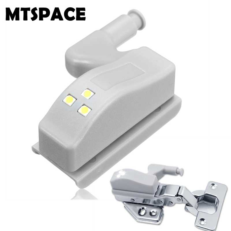 Mte 1pcs Universal Cabinet Cupboard Hinge White Led Light Wardrobe System Modern Home Kitchen 0 25w Inner Sensor