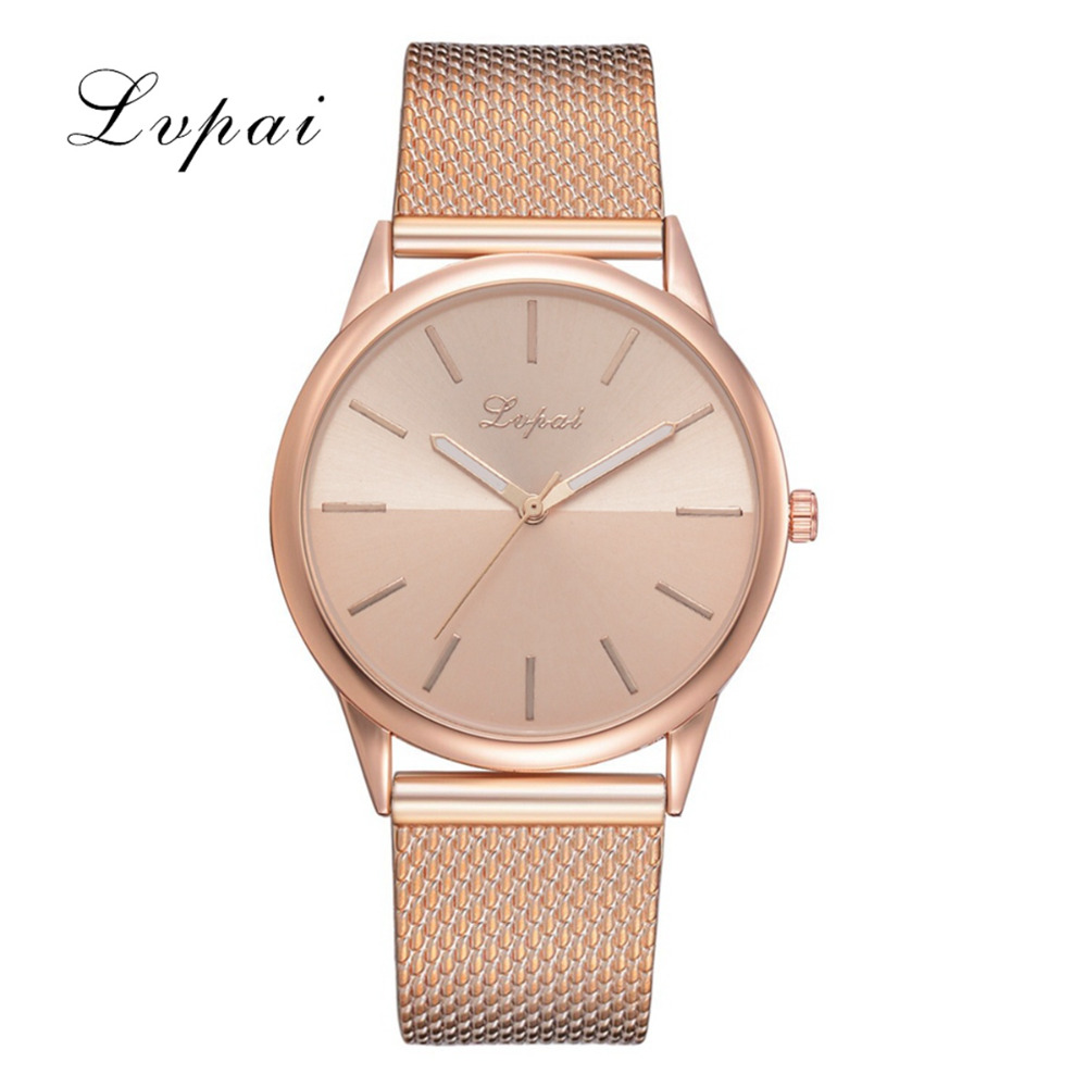 Lvpai Brand Luxury Watch Women Quartz Watches Fashion Business Women  Watches Silicone Quartz Wristwatch Bracelet Clock