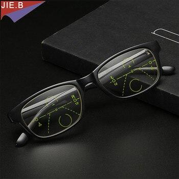f1f2e4df7c 2019 Multi-progresivas gafas de lectura de las mujeres de los hombres miopía  gafas de lectura clara inteligencia Multifocal gafas