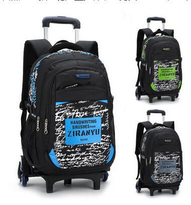 615b9c1b59 Bambini Trolley Scuola zaini per il ragazzo Scuola di Rolling backpack per  i ragazzi di Scuola con ruote zaino bambini Sacchetti di Scuola On wheels  in ...