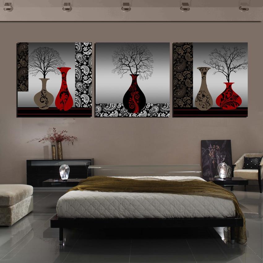 Online kaufen gro handel schwarz gerahmte kunstwerk aus - Cuadros pintados para dormitorios ...