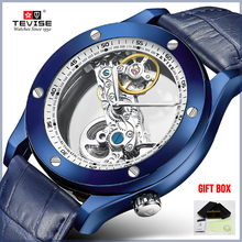 TEVISE Men Watches Top Brand Luxury Skeleton Automatic Mecha