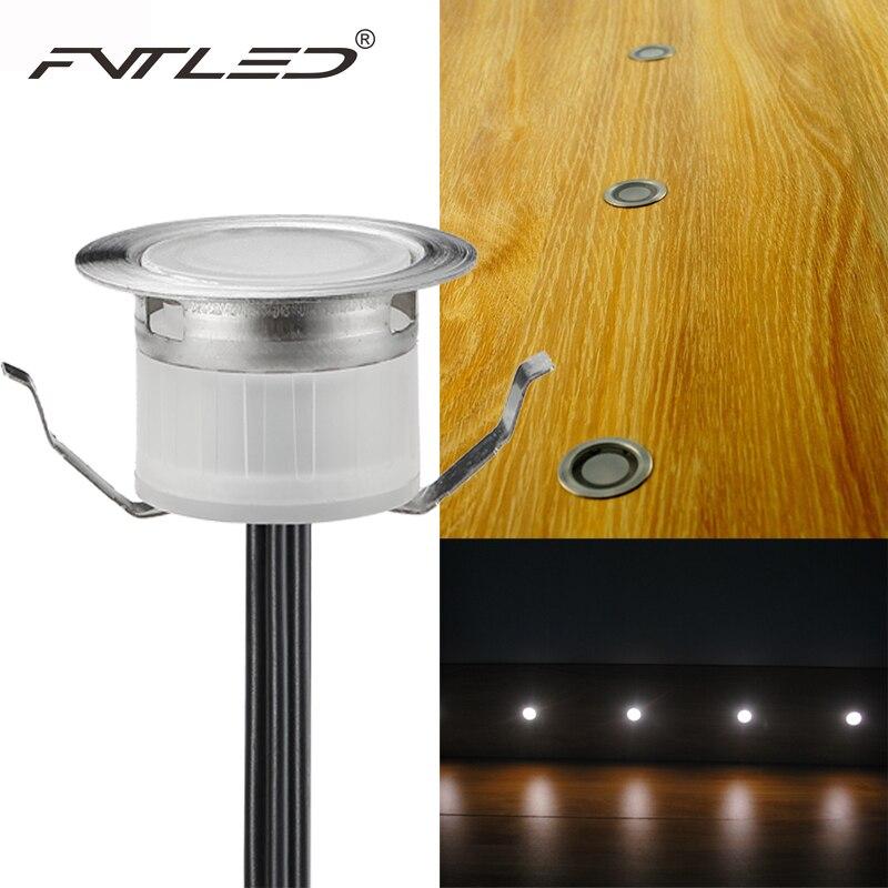 fvtled 12v led deck lighting kit stainless steel waterproof outdoor landscape garden yard step lamp in - Led Deck Lights