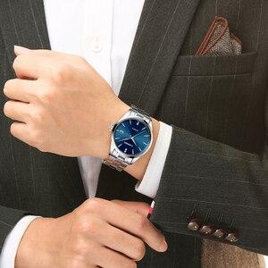 Image 4 - Часы наручные CADISEN Мужские механические, брендовые роскошные стальные автоматические деловые водонепроницаемые