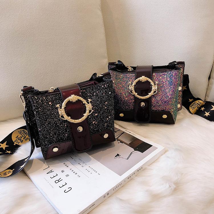 Women Patchwork Handbag Crossbody Bag Soft Leather Square Casual Ladies Chain Shoulder Girl Chain Messenger Satchel Bag louis 11