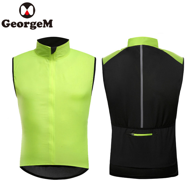 Special Offers Man France Cycling Jacket Sleeveless Reflective Windproof  Riding Wear Clothes Bike Bicycle Clothing for c6aa8b680