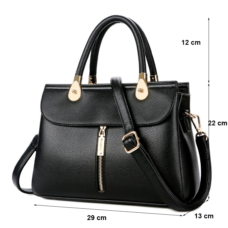 Mother Gift High Quality Classic Genuine Leather Bag for Women 2019 Front Zipper Leather Handbags Sac a Main Ladies Hand Bags in Shoulder Bags from Luggage Bags