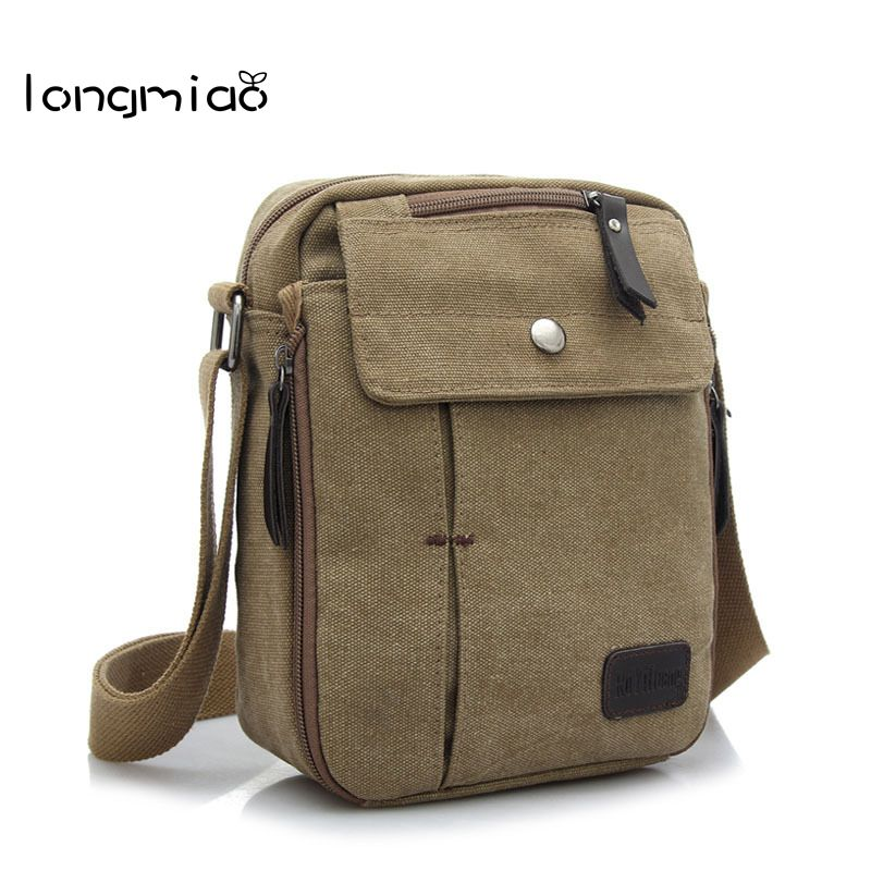 longmiao Brand 2017 Multifunction Men Canvas Bag Casual Travel Bolsa Flaps Men's Crossbody Bag Vintage Men Messenger Handle Bags augur men s messenger bag multifunction canvas leather crossbody bag men military army vintage large shoulder bag travel bags