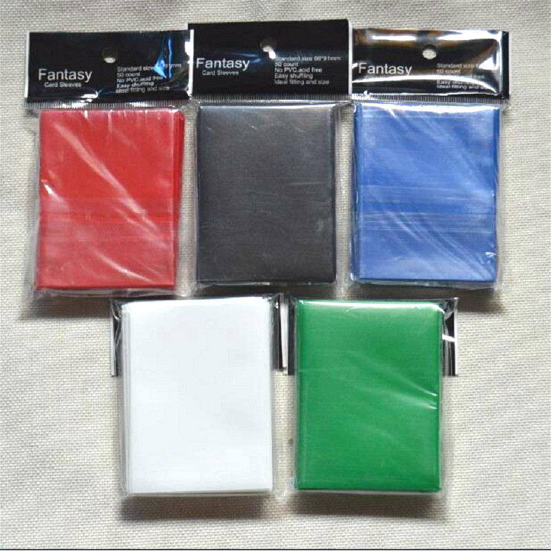 66x91mm 100pcs/lot color Matt Board Games Cards Sleeves protector for magical game the gathering card shield TCG collectioncards
