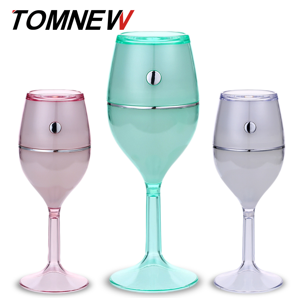 TOMNEW Mini Cool Mist Humidifiers 7 Colourful LED Night light Ultrasonic Aromatherapy Air diffuser for Home Office or Car