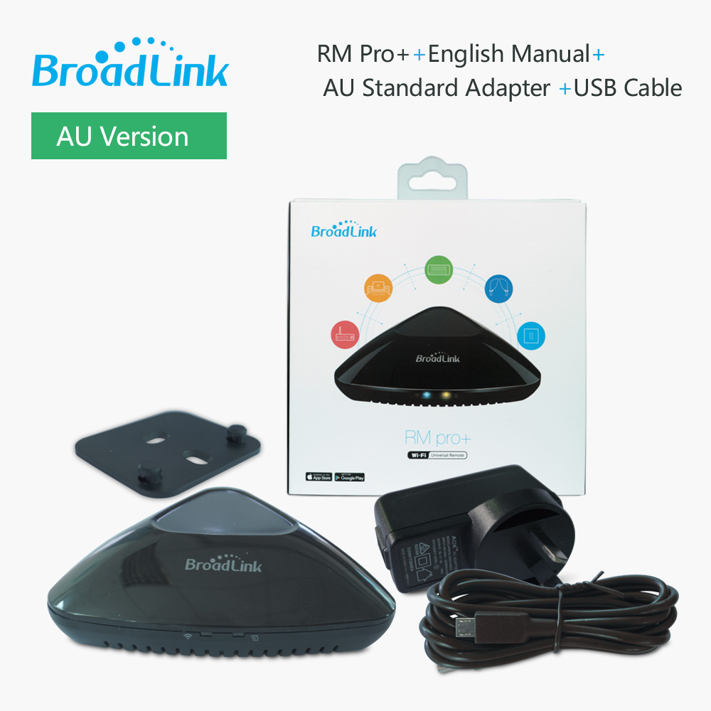 US $37 9 |2019 New Version Broadlink RM Pro+ Smart Home Automation  Intelligent Universal WIFI+IR+RF switch Remote Controller-in Smart Remote  Control