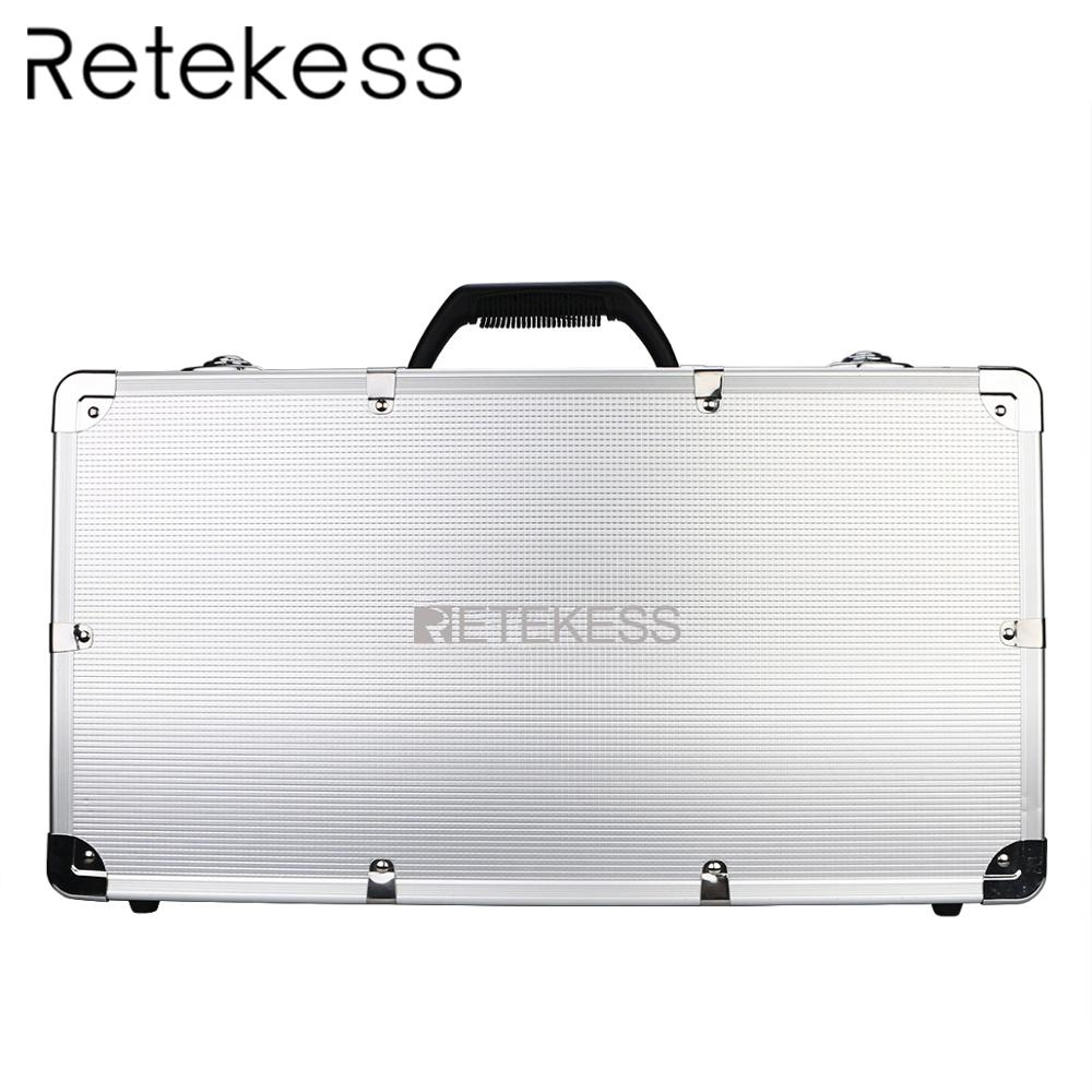 RETEKESS TT001 Charge Case Storage Box 32 Slot Aluminum Alloy For T130 Transmitter and T131 Receiver