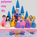 Princess Model Polymer Clay Diy,Massinha de Modelar Play Doh Toys Color Mud Argila ,Baby Educational Toys Fimo Soft Polymer Clay