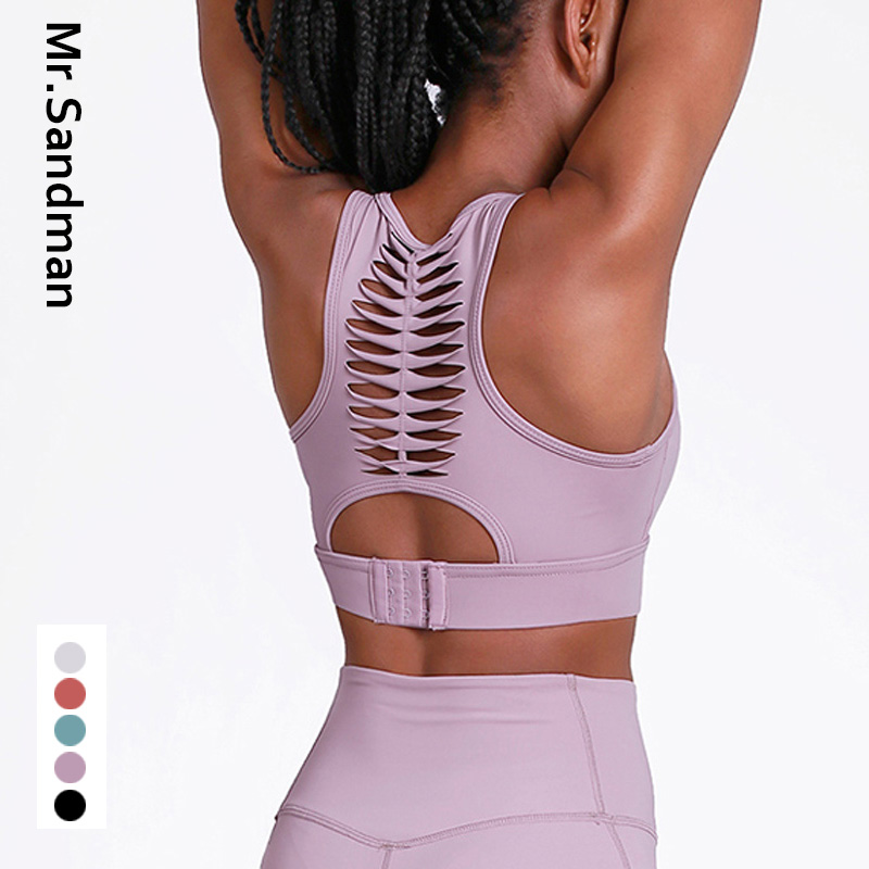 High Impact Strappy Sports Bra Pink Fitness Crop Top Bra Crisscross Padded Yoga Bra Cute Crop Top Workout Gym Yoga Top For Women