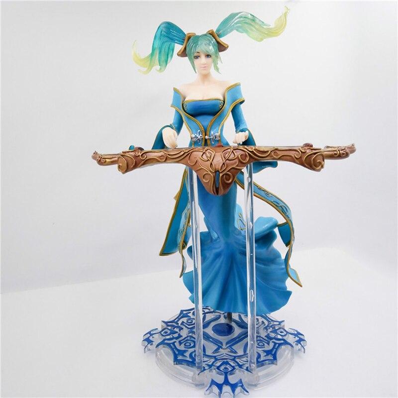 Nouveau avec boîte ligue légendes seigneur de la Sona Buvelle jeu PVC figurine d'action lol modèle à collectionner jouet cadeau créatif 33 cm