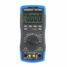 Holdpeak Hp-770Hc True Rms Auto Ranging Digital Multimeter With Ncv Feature And Temperature/Frequency/Duty Cycle Test стоимость
