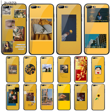 цена на Lavaza Yellow Aesthetic illustration Tempered Glass Case for Apple iPhone 6 6s 7 8 Plus X 5 5S SE XS 11 Pro Max XR Cover