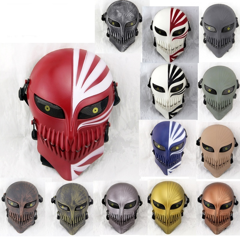 DC16 Death Ichigo Kurosaki Bleach Skull Military Tactical Wargame Paintball Airsoft Full Face Protective Mask Halloween Party