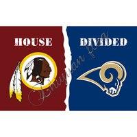 Washington Redskins banner flag 3ftx5ft Banner 100D Polyester Los Angeles Rams Custom sport flag