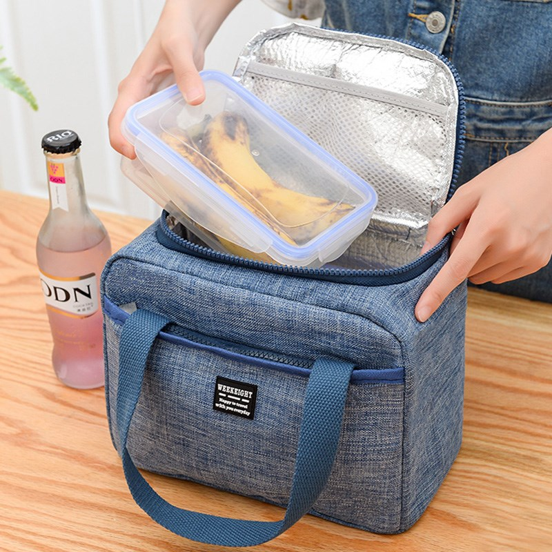 Oxford Insulated Cooler Bag Insulation Portable Ice Food Container Organizer Lunch Picnic Box Ice Pack Therma Bag Refrigerator