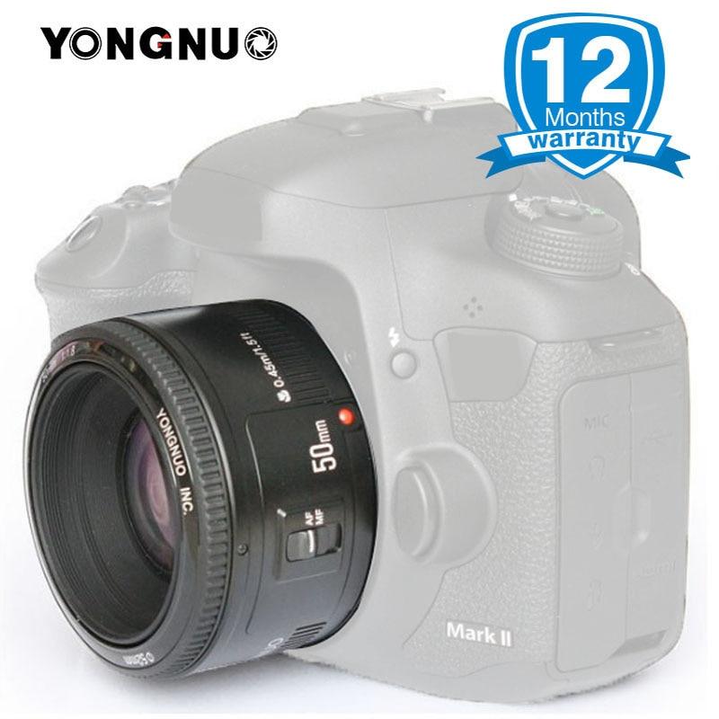 YONGNUO 50mm F1.8 para Canon EF montaje EOS cámara enfoque automático de gran apertura YN50mm cámara para 650D 700D 5D Mark III