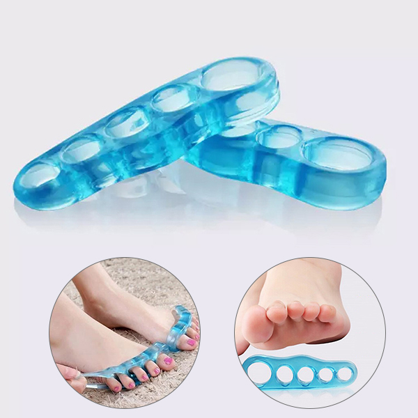 High Quality 1 Pair 5 Holes Foot Fingers Toe Separator Thumb Valgus Adjuster Feet Care MD99