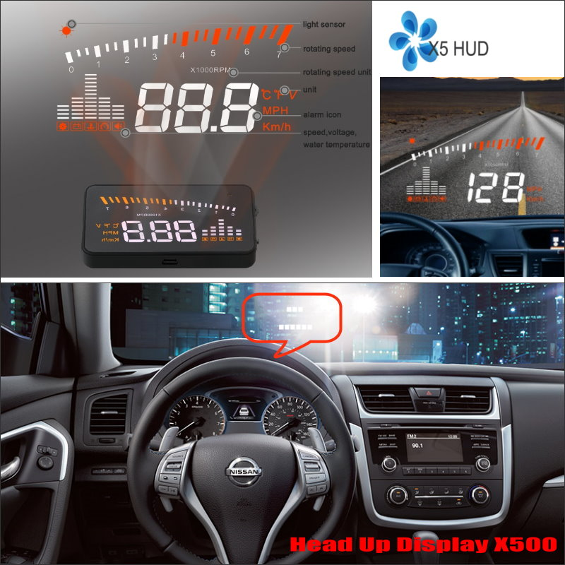 car hud safe drive display for nissan altima titan 2015 2016car hud safe drive display for nissan altima titan 2015 2016 refkecting windshield head up display screen projector
