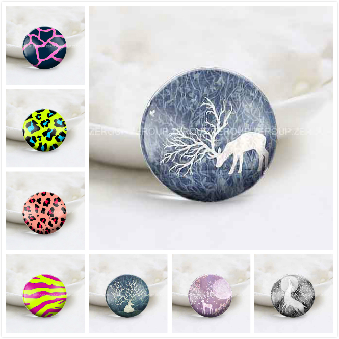 ZEROUP Round Photos Glass Cabochon Jewelry Finding fit Cameo Blank Settings Supplies for Jewelry Components 9
