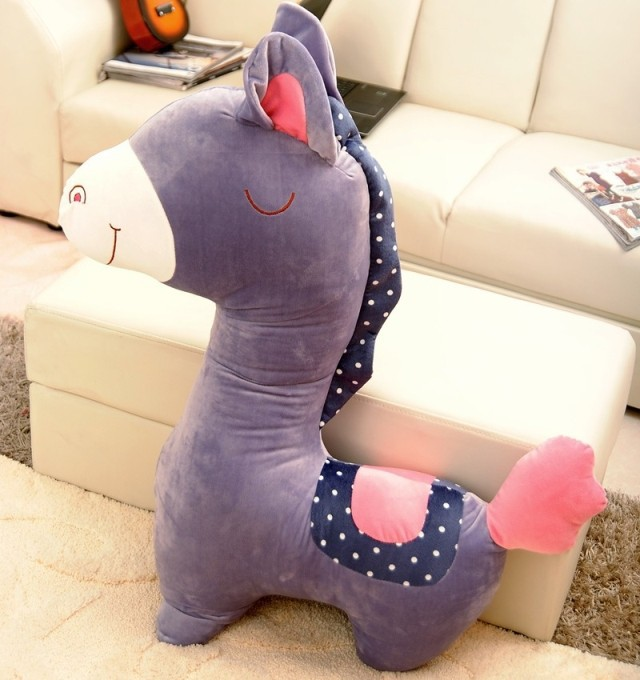 big new creative purple stuffed horse toy plush horse pillow doll gift about 100cm