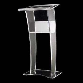 Crystal Podium Acrylic Crystal Transparent Platform Stage Launch Ceremony Hotel Podium Plexiglass