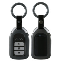 Aluminum alloy Car Key Bag Case Cover Key Holder Chain For Honda Crv Fit Xrv Crider Vezel Jade Spirior 9 Accord Smart Key Fob