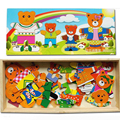 Раннего детства Дети Деревянные Головоломки игрушки Многофункциональные образовательные животных головоломки игрушки для Ребенка деревянные Игрушки подарок CU28