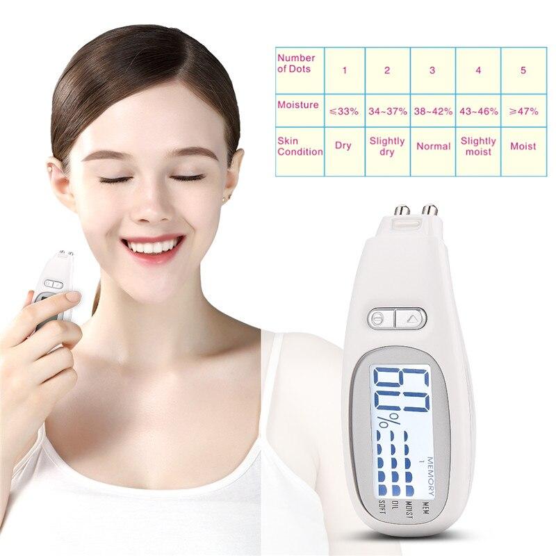 Digital Skin Analyzer LED Display Facial Moisture Oil Analyzer Face Skin Sensor Monitor Tester Oil Detector Skin Care Tool 38