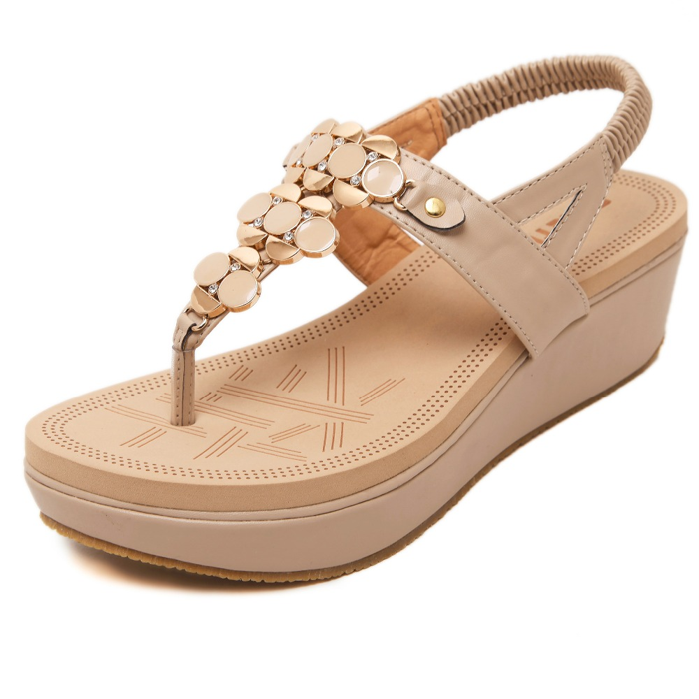 Womens sandals wedges - Siketu 2016 New Bohemia Women Shoes Flower Fashion Women Sandals Floral Wedges Heel Shoes Women Plus Size 35 40 Wholesale In Women S Sandals From Shoes On