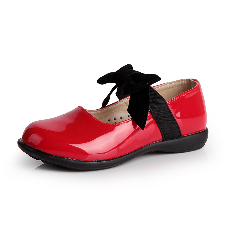 Aliexpress.com : Buy girls red dress shoes black bow kids party ...