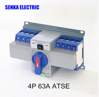 63A 4P Automatic Transfer Switch MCB Type Intelligent Dual Power Transfer Switch ATS