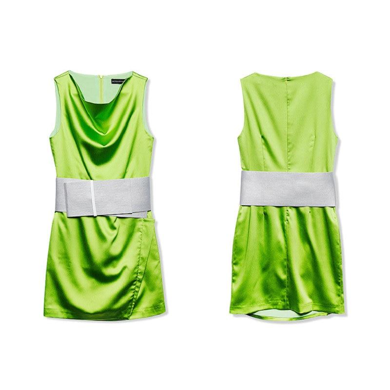 Élégant Été Club 2018 Vert Automne Femmes Dentelle Nouveauté Sexy Travail De Streetwear Robe Ceintures Spaghetti Robes c8fFaIqtOI