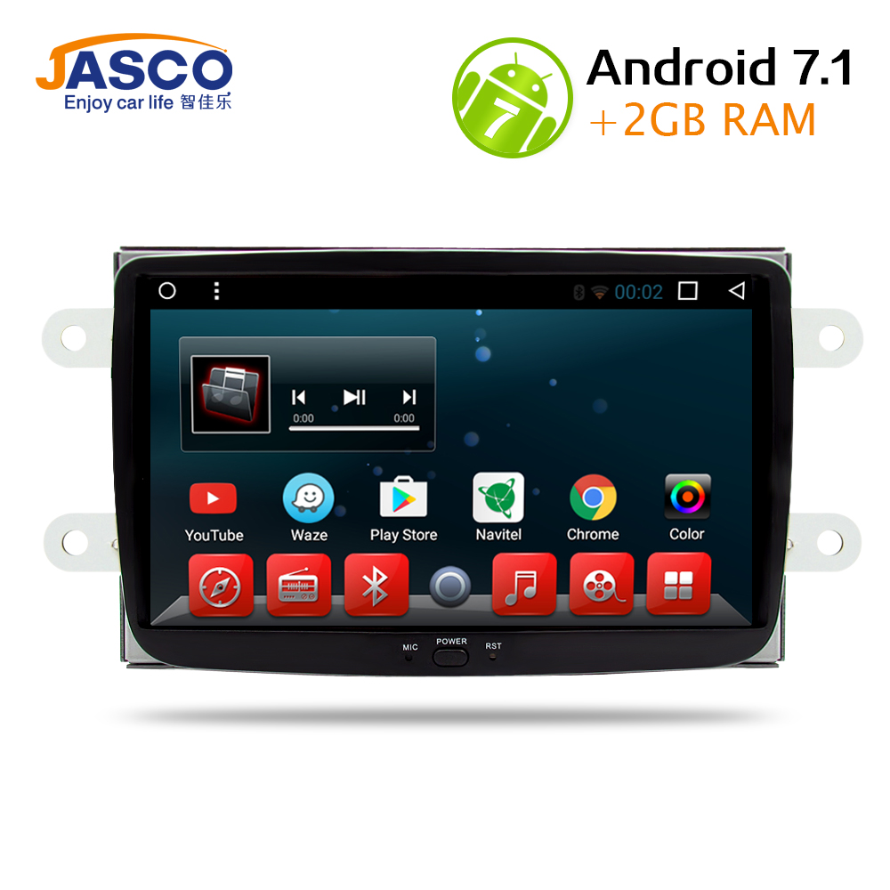Android 7 1 RAM 2G Car DVD Stereo Player GPS for Renault Duster Dacia Sandero Logan