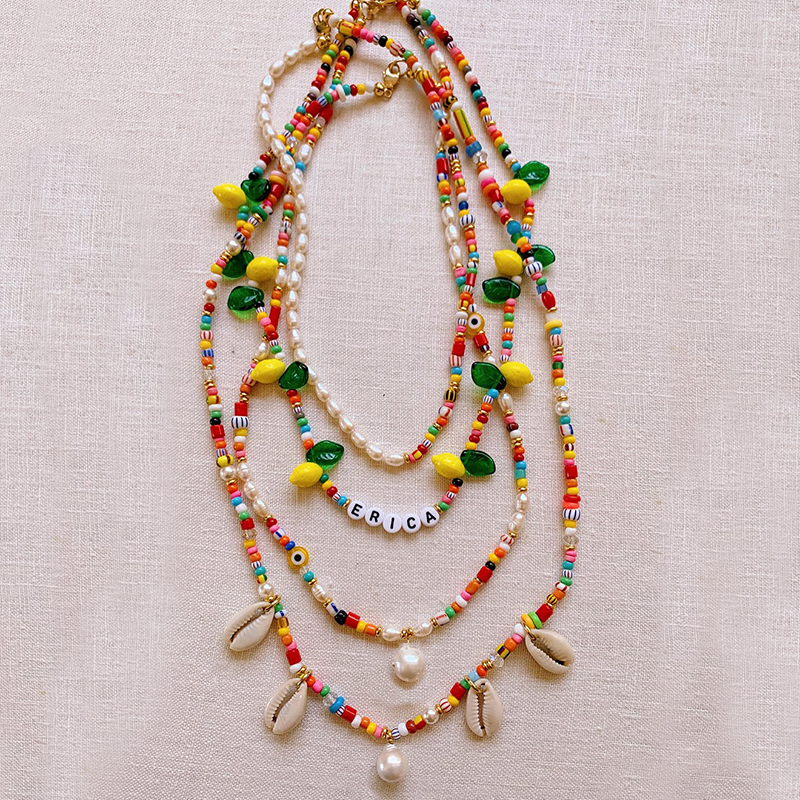 bohemian boho bead layered statement necklace women joyeria neckless steampunk joias emo kolye erkek pentagram big necklace(China)
