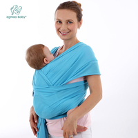 2016 Wholesale Baby Sling Mochila Stretchy Wrap Carrier Baby Canguru Backpack Solid Color Two Shoulders Elastic